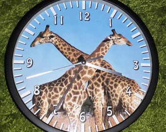 clock wall pattern giraffe in Africa