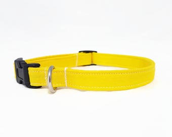 "Dog Collar - ""Walking on Sunshine"" - Sunny Yellow - Small/Medium/Large/Extra Large Dog Collar - Hipster Dog Collar - Durable"