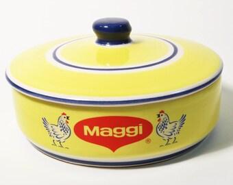 Vintage Maggi Covered Soup/Serveware/Casserole Bowl, Mexico - Tu Sabor Latino