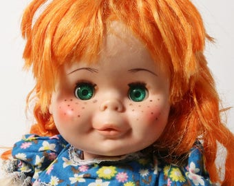 Rare Eegee Goldberger Doll Georgette Marked 17RNG with Orange Hair and Freckles