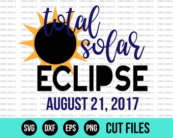 Solar Eclipse SVG, Great American Eclipse SVG, Total Solar Eclipse SVG, Solar Eclipse 2017 svg, Moon svg, Sun and Moon svg, Eclipse svg