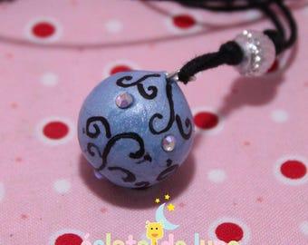 Pregnancy's Bola Bulan bola Xylophone blue arabesque swarovski AB rhinestones