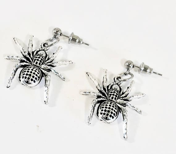 Spooky Spider Earrings, Spider Halloween Jewelry, Halloween Earrings, Spider Gifts, Spider Jewelry, Halloween Gift Earrings Spider
