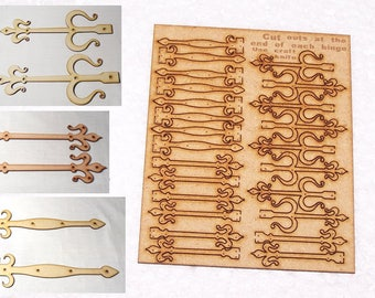 Pack of 12 mixed pairs fairy door hinges 30mm - 40mm - 50mm or 60mm Length  #01