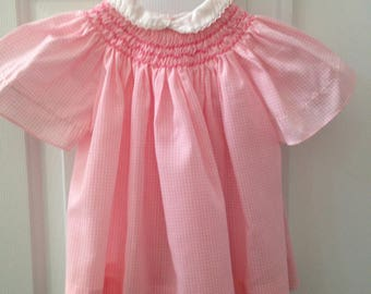 Quality by La Pat Little Girl's Pink and White Gingham Dress