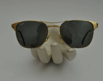 Vintage B&L Ray Ban 52[]19 Gold Plated Signet Sunglasses