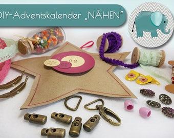 Advent calendar for women, Advent calendar for big, Christmas, sewing advent calendar, DIY advent calendar, sewing, DIY, self-makers,