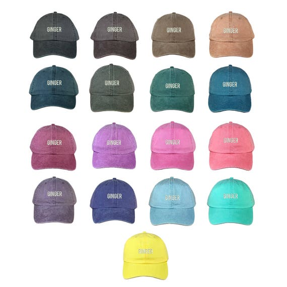 GINGER Washed Dad Hat |GINGER | Bonnie & Clyde | Ginger | Friends Hat | Best Friend Hat| Brownie Hat| Fashion Dad Hat | Dad Hats Tumblr