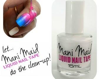 Liquid Nail Tape Mani Maid Peel Off Nail Polish Remover Latex Cuticle Shield Ammonia Free
