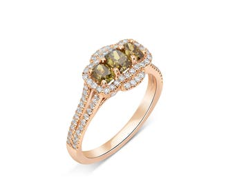 yellow diamond ring - Yellow Diamond Wedding Ring