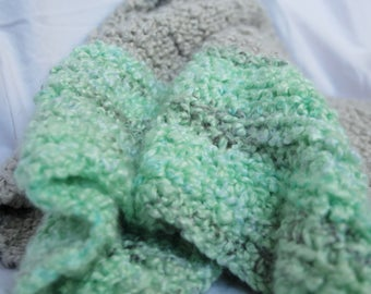 Sea Green Baby Blanket