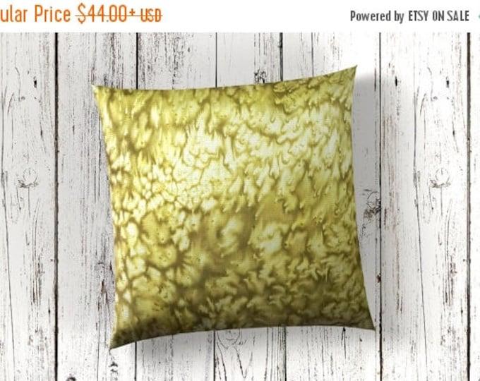 SALE Spring Green Pillow Covers 18x18-Watercolor Silk Pillows-Boho Decor-Zen Decor-Cottage Decor-Gift