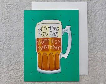 Hoppiest Birthday Beer Lover's Card
