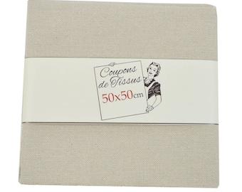"""Cut of fabric 100% cotton """"Pastel linen"""" 50cm X 50 cm"""
