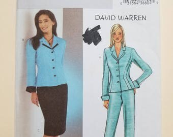 Butterick David Warren Pattern Size 12-16  #3918