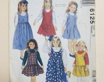 McCall's Pattern Child Size 5  #6125