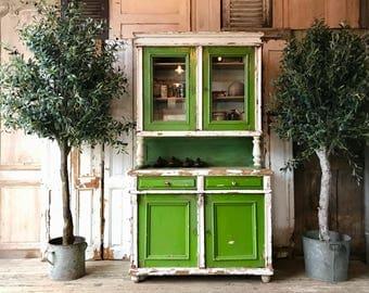 Rustic vintage Hungarian dresser