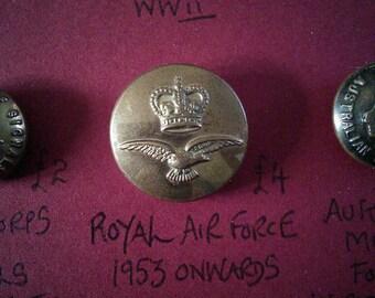 Original Royal Air Force button