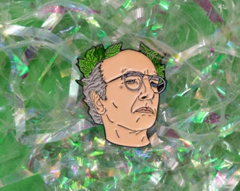 Larry David Enamel Pin, curb your enthusiasm, badge, pin game, lapel pin, funny gift, seinfeld, curb pin, larry david pin