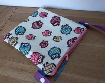 Waterproof pouch for pool printed owls