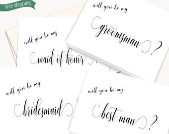 Will You By My Bridesmaid Card, Bridesmaid Proposal card, Will you be my Matron of Honor Card, Will you be my Flower Girl Card