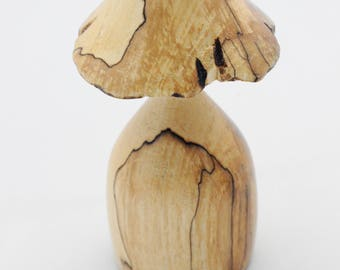 Spalted beech toadstool