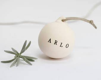 Personalised Bauble - Personalised Ceramic Bauble - Personalised Christmas Bauble - Baby Name Bauble - Christmas Bauble - Christmas Gift