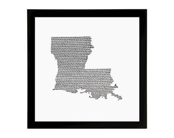 Louisiana State Love Art Print