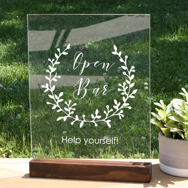 Wedding bar sign open bar sign bar sign wedding acrylic wedding wedding bar sign open bar sign bar sign wedding acrylic wedding sign solutioingenieria Gallery