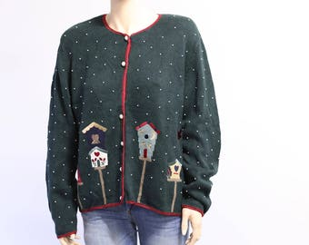 Ugly Christmas sweater. Vintage Christmas sweater. Tacky Christmas sweater. Christmas sweater for women. Vintage sweater. Holiday sweater.