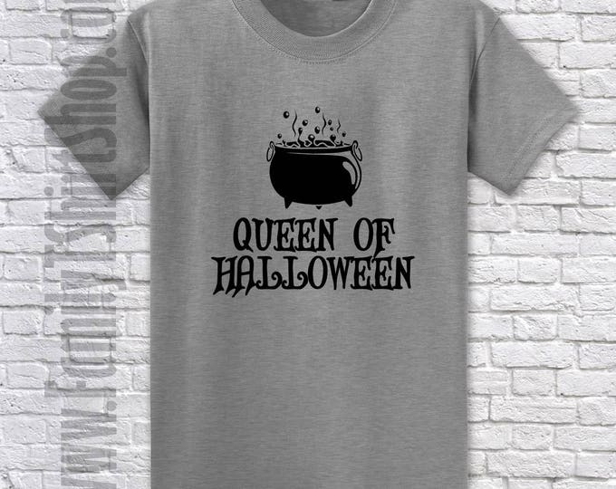 Queen of Halloween Cauldron - Halloween T-Shirt