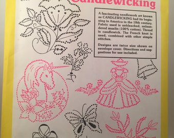 Aunt Martha's Hot Iron Transfers for Candlewicking, Candlewicking Thread, French Knot Embroidery, Iron On Transfers, Colonial Patterns