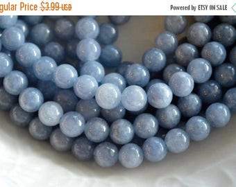 15% off SALE 8mm, Aquamarine Beads, Light Blue Gemstone Beads, Blue Stone Beads, Hole 1mm, 12 beads,  Aquamarine Quartz Gemstone
