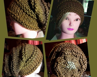 Women's Hand Knitted Slouchy Beanie