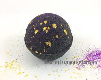 Midnight Fig Black Bath Bombs Bath Vegan Bath Bomb Natural Bath Fizzy