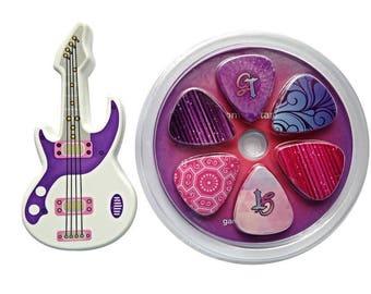 Guitar Picks for Girls (12 Picks). Girls Guitar Picks with Bonus Carrying Case. Beautiful Original Designs with Stylish Carrying Case.