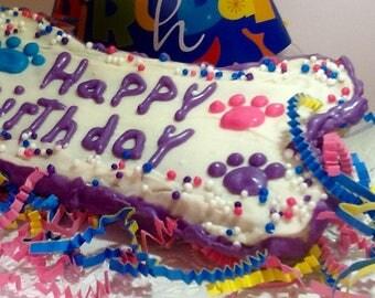 """Dog Treats - Giant """"Happy  Birthday """" cookie"""