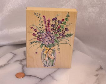 Marlon's Bouquet Rubber Stamp by Hero Arts Scrapbook STamp Altered art
