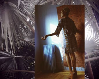 FATIMA Knee Length Shift Dress // Wax Print