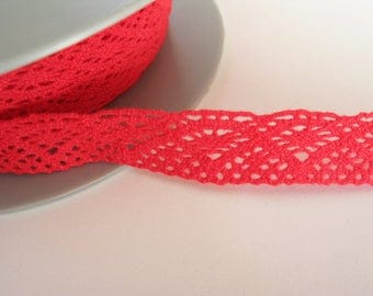 Lace 1.5 cm red cotton same as front/back