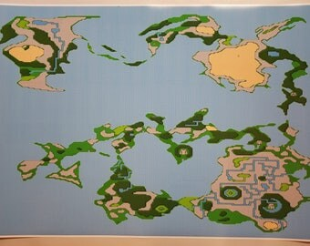 Video game world map etsy final fantasy nes 36 x 24 poster print detailed world map nintendo video game gumiabroncs Gallery