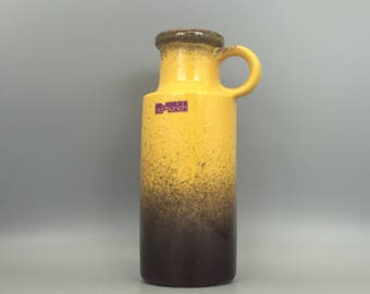 Scheurich  401 / 20  yellow vintage  vase Mid Century Modernist West German Pottery  made in the 1970s