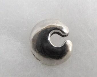 Bead width letter C silver metal
