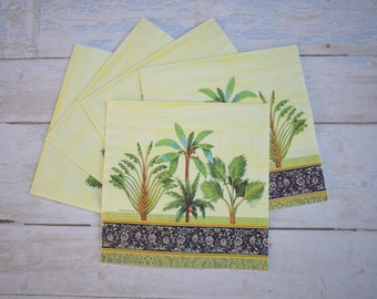 Oriental Paper Napkins - Set of 5 - Decoupage Napkins #1317