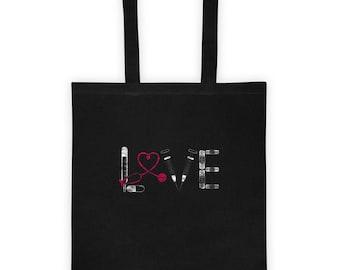 Funny Nurse Tote Bag Love Rn Lpn Nursing School Graduate Gift Men Women