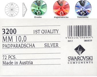 Swarovski 3200 10mm rivoli.  Price is for 10 stones