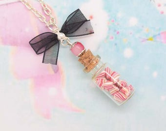 vial berlingot polymer clay necklace