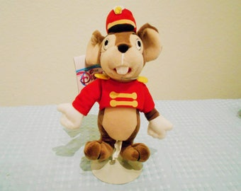 "Disney Beanbag Plush ""Timothy"" The Circus Mouse And ""Dumbo's"" Sidekick/Adorable In His Circus Costume With Matching Hat/New With Tags/Cute!"