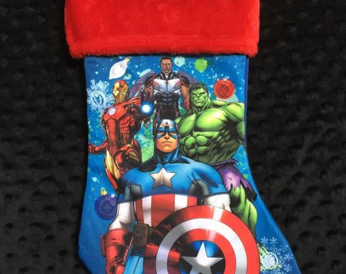 Avengers Christmas Stocking 18 inch - Personalized
