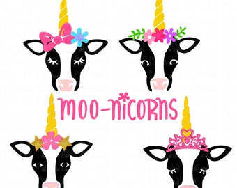 Moo-nicorns svg/png/dxf cricut/silhouette cutting file/unicorn svg/cow svg/magical/cow unicorn/moo unicorn/HTV/vinyl/Moonicorn/cow girl svg